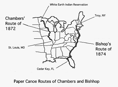 Map of Paper Canoe trips